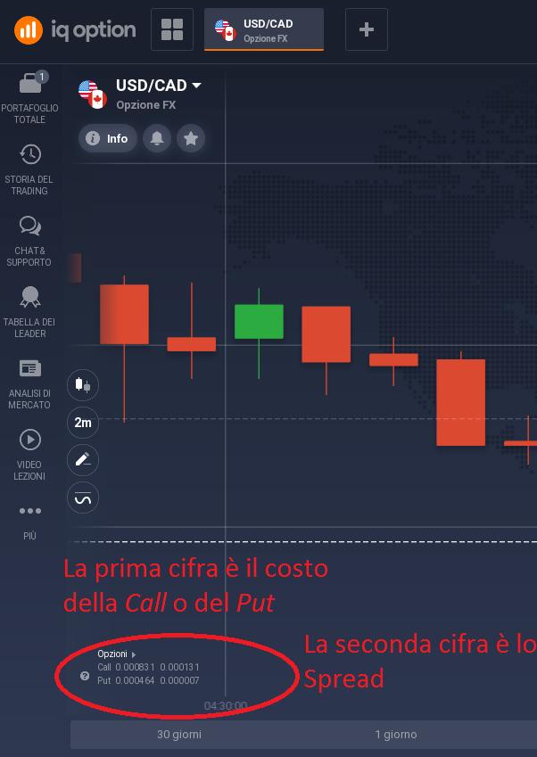 Costi Opzioni FX