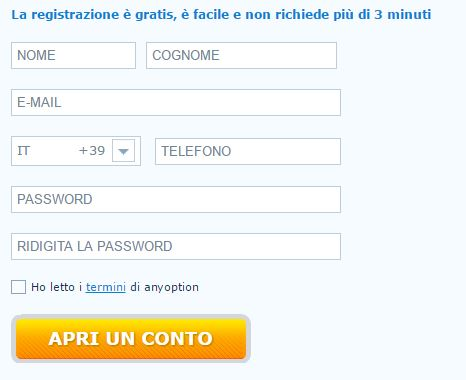 registrazione conto demo anyoption