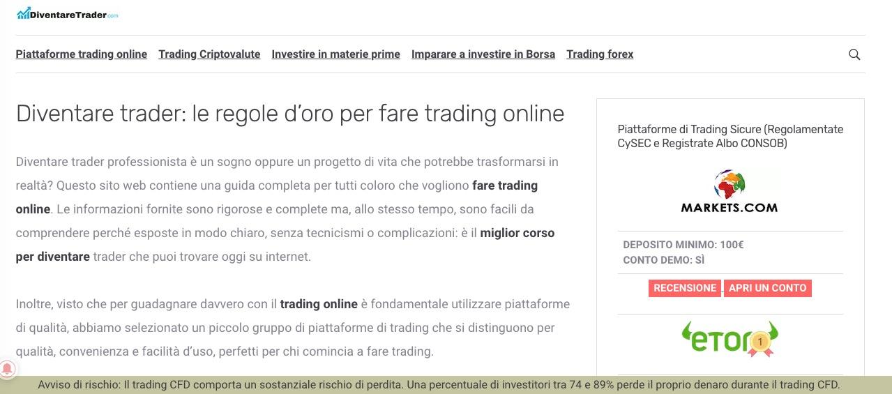Chi Siamo Diventare Trader