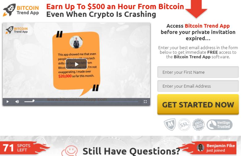 Bitcoin Trend App truffa? Recensioni e opinioni 2021 - Mercati24