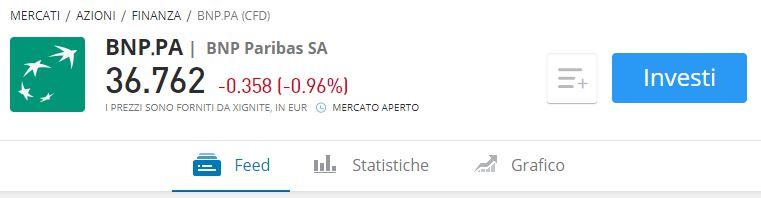 Comprare azioni BNP Paribas etoro