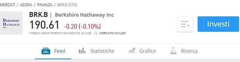 Comprare azioni Berkshire Hathaway etoro