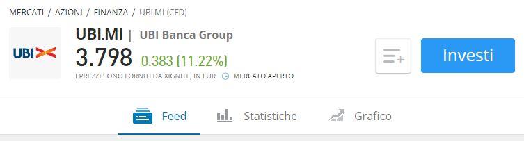 Comprare azioni UBI Banca etoro