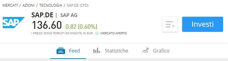 Comprare azioni SAP etoro