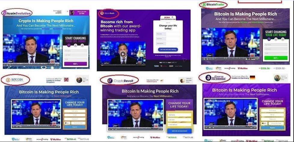 Bitcoin truffa clone