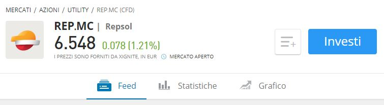 Comprare azioni Repsol con etoro