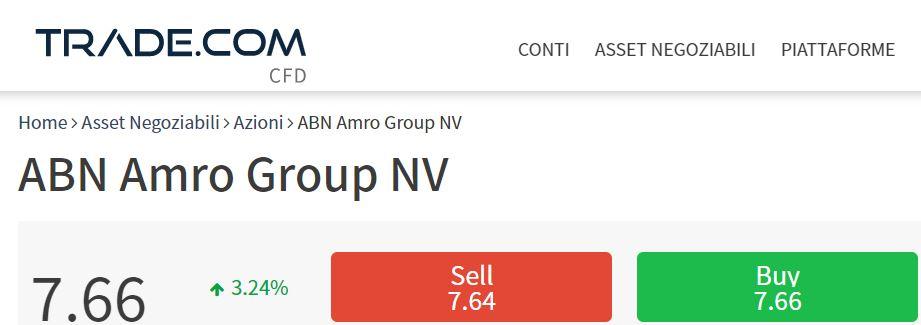 Comprare azioni ABN AMRO con trade-com