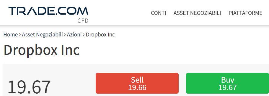 comprare azioni Dropbox con trade-com