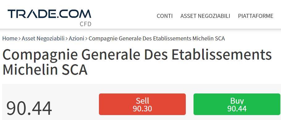comprare azioni Michelin con trade-com