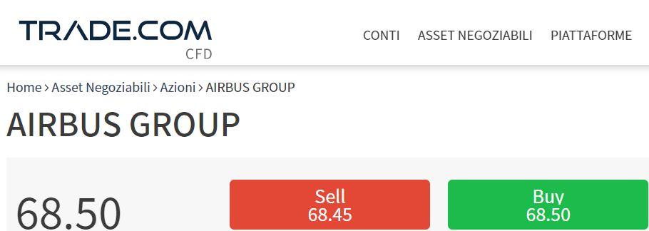 comprare azioni airbus con trade-com