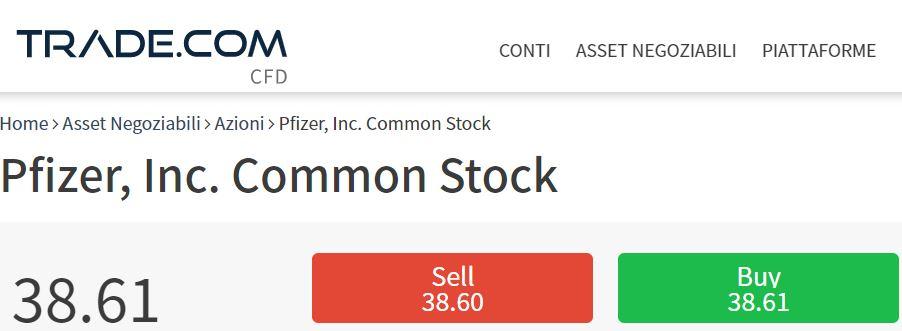 Comprare azioni Pfizer con trade-com