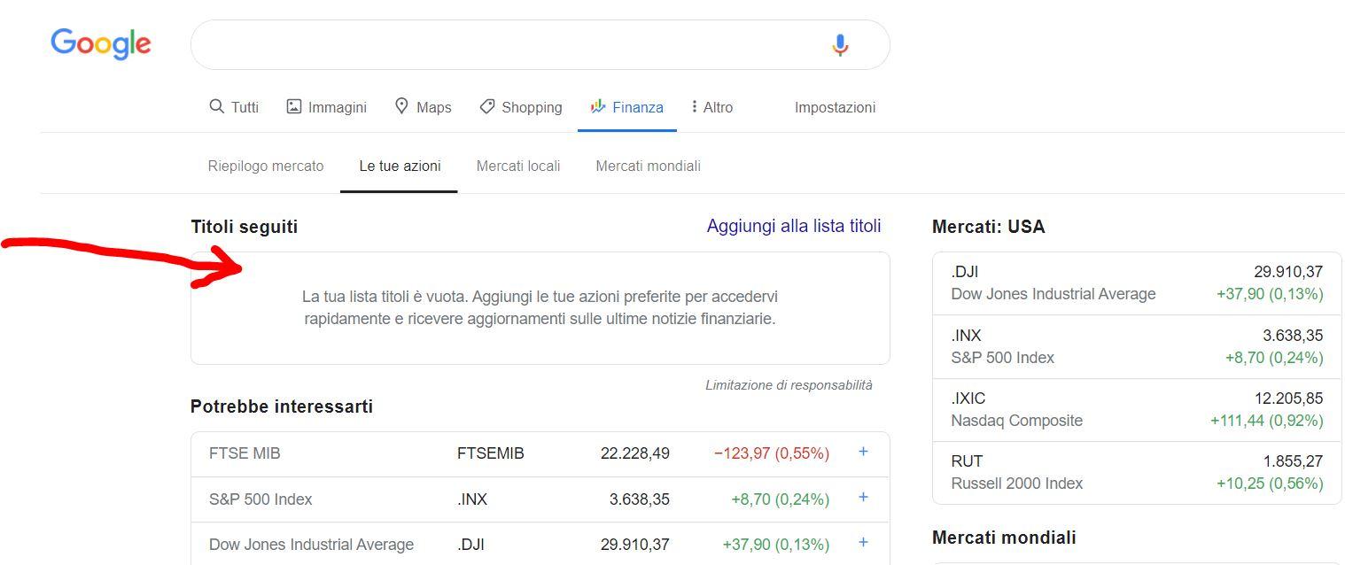 Cos'è Google Finance