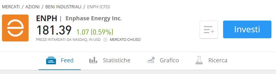 Comprare azioni Enphase Energy con etoro