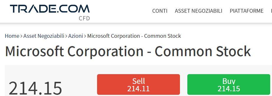 comprare azioni microsoft con trade-com