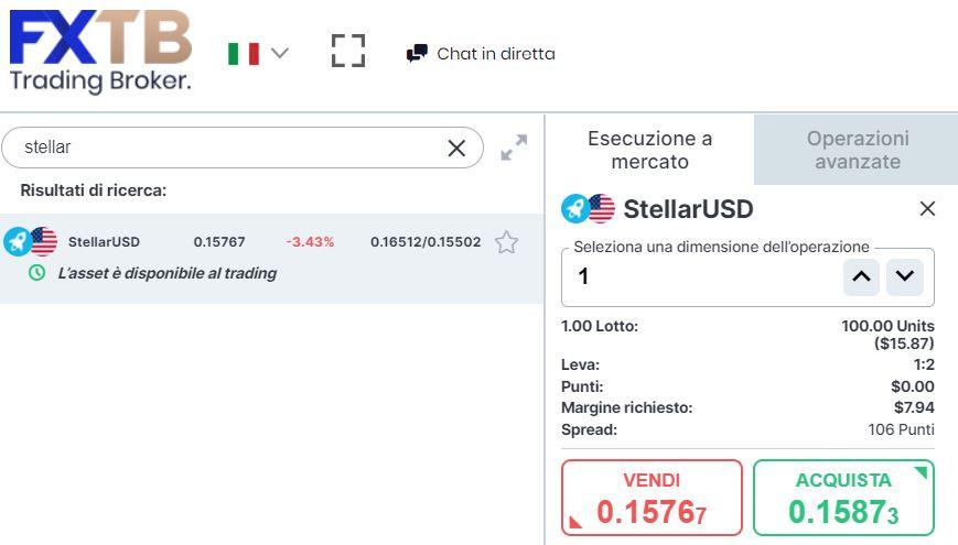 comprare stellar con forextb