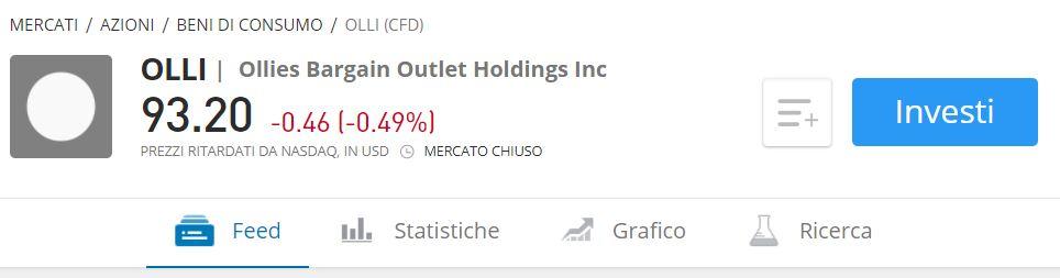 Comprare azioni Ollies Bargain Outlet con etoro