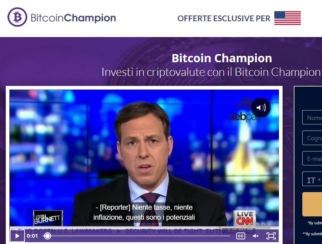 Bitcoin Champion è identico ad altre truffe