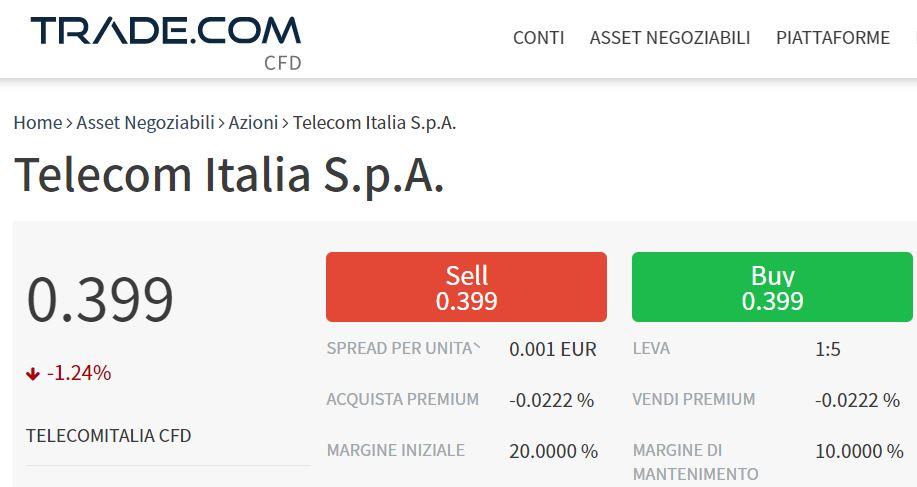 comprare azioni telecom con trade-com