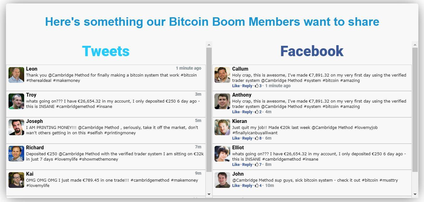 testimonianze su Bitcoin Boom sono false