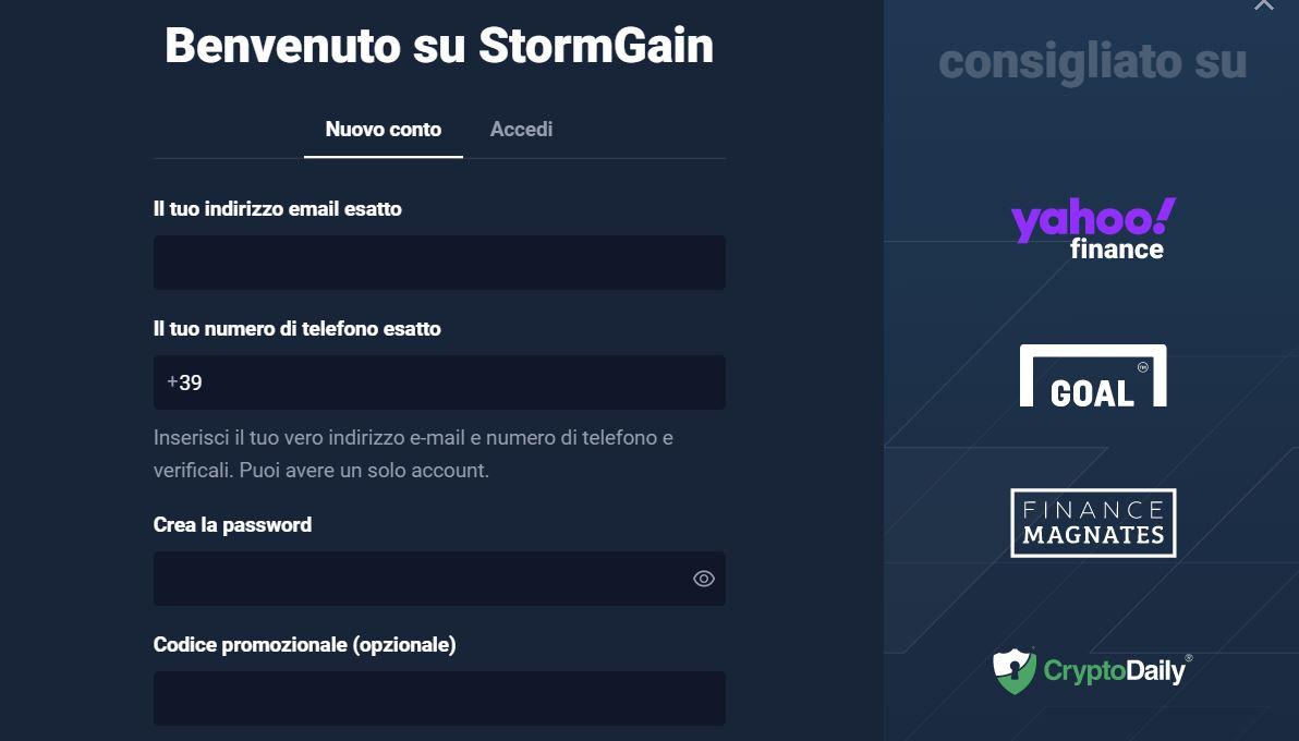 StormGain come funziona