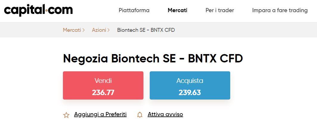 comprare azioni biontech su capital