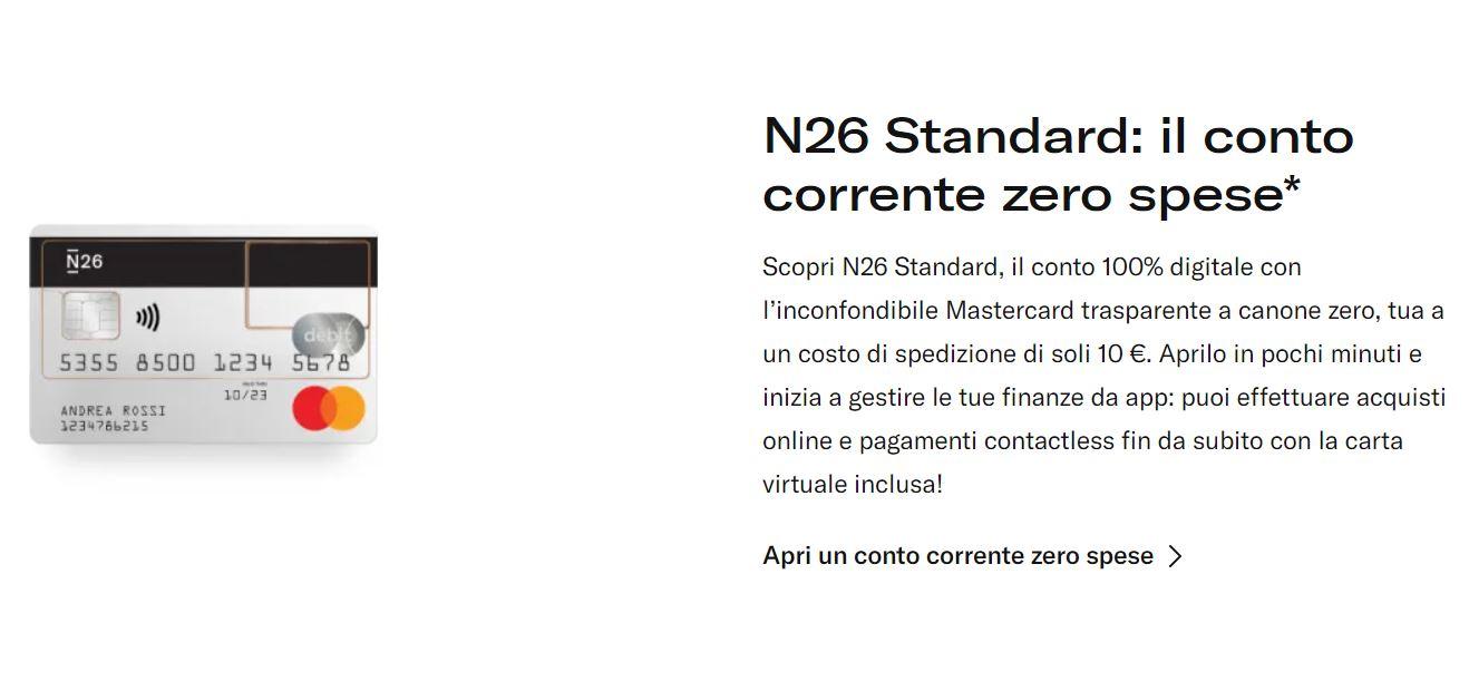N26 costi e commissioni
