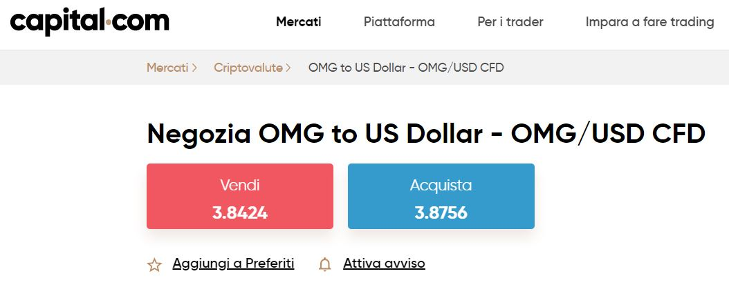 comprare omisego con capital